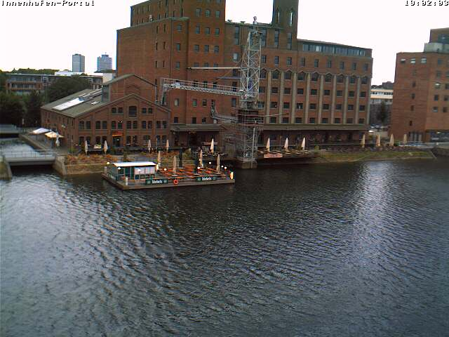 Duisburg webcam - Duisburg Inner Harbour Kueppersm�hle webcam, North Rhine-Westphalia, Duesseldorf